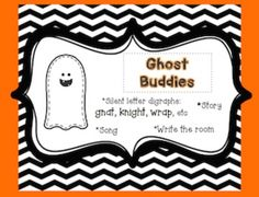 "***FREE*** Silent letter digraphs are called ""Ghost Buddies"" in my classroom. This download includes:- a cute little story I tell my students about ghost buddies- write the room ghost cards with pictures-a recording sheet-anchor chart headings-a song I made up to go with the lesson. Awesome way to teach gn, kn, wr."