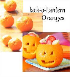 How to make Jack-o-Lantern Oranges
