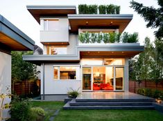 My dream house. LEED Platinum home in Vancouver, designed by Frits de Vries Architect. 3,070 sf.