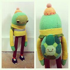 turtle in a turtleneck, Amigurumi Toys, Softies, Plushies, Rabbit Photos, Kawaii Plush, Fabric Toys, Vinyl Toys, Designer Toys, Felt Crafts