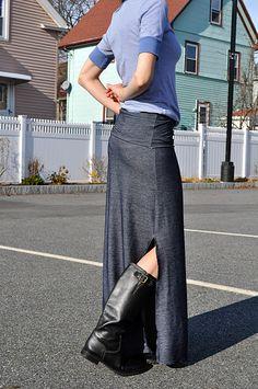 Maxi Skirt tutorial, I like the slit up the side