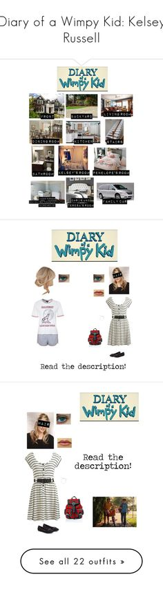 """Diary of a Wimpy Kid: Kelsey Russell"" by nerdbucket ❤ liked on Polyvore featuring Silhouette, DutchCrafters, Wildon Home, Topshop, Current Mood, Wet Seal, LC Lauren Conrad, Warehouse, kitchen and bathroom"