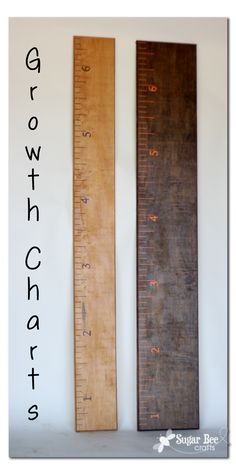 simple, ruler-like growth charts