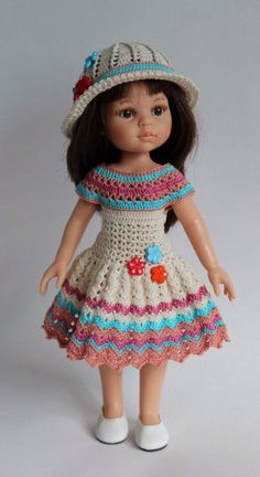 Summer dress and hat for Paola Reina by DollsBoutiqueTM on Etsy https://www.etsy.com/listing/289434105/summer-dress-and-hat-for-paola-reina