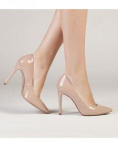 zapatos salon nude