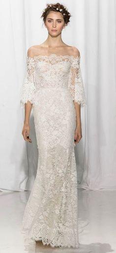 Featured Dress: Reem Acra; Wedding dress idea.