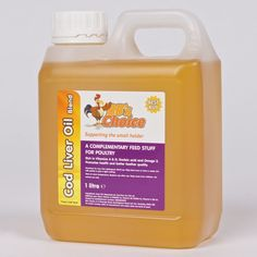 Cod liver oil for chickens. Dosage included. BB's Cod Liver Oil 1 litre