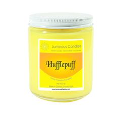 Hufflepuff - Scented Soy Candle – Book Lovers – 8 oz - House of Hogwarts, Mason Jar Candle Mason Jar Candles, Soy Candles, Hufflepuff Pride, Hufflepuff Bedroom, New Darlings, Simple Closet, Welcome To My House, Hogwarts, Harry Potter