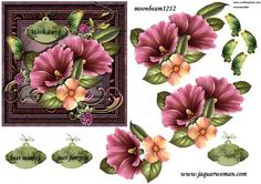 Gorgeous flowers in vintage frame on Craftsuprint designed by Marijke Kok - Gorgeous flowers in vintage frame,for beautiful card... - Now available for download!