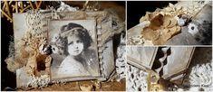 Rękodzieło- wystrój wnętrz,decoupage,cardmakig,kosmetyki, mydła,blog, blogspot , : Dziewczynka eko - vintage Cardmaking, Decoupage, Shabby Chic, Frame, Vintage, Blog, Painting, Home Decor, Art