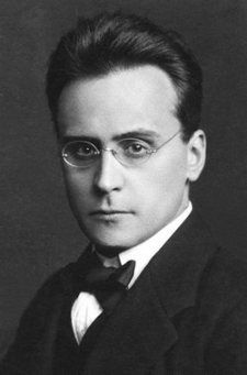 Anton Webern (1883–1945), was an Austrian composer and conductor. He was a member of the Second Viennese School. As a student and significant follower of Arnold Schoenberg, he became one of the best-known exponents of the twelve-tone technique; in addition, his innovations regarding schematic organization of pitch, rhythm and dynamics were formative in the musical technique later known as total serialism.