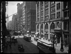 Broadway Series. West side of Bway looking south from near Bleecker toward Houston Street. Young's Hats on corner. Date: May 27, 1920