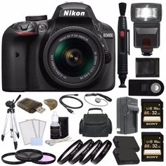 A sleek and now connected DSLR for all, the black Nikon D3400 is designed to produce better image quality than your smartphone, yet work seamlessly with your mobile devices for sharing your memories.