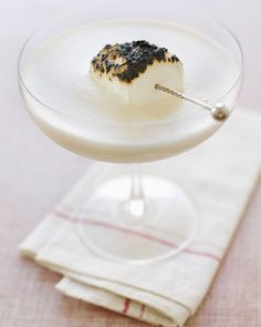 White Russian with a Toasted Marshmallow Garnish #drink #glup #beverage