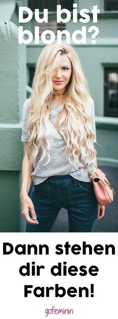 Blondine und Farben