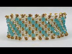 Pearl Shop, Beaded Bracelets Tutorial, Beaded Jewelry Patterns, Wedding Bracelet, Beading Tutorials, Pearl Beads, Bracelet Making, Trends, Crystals