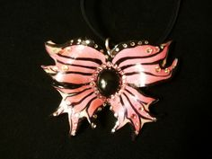 Hey, I found this really awesome Etsy listing at https://www.etsy.com/listing/207405542/ooak-pink-faerie-wing-pendant-necklace