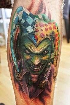 top 10 joker tattoo designs jester tattoo joker tattoos and jokers. Black Bedroom Furniture Sets. Home Design Ideas