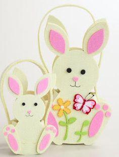 manualidades en fieltro conejo de pascua