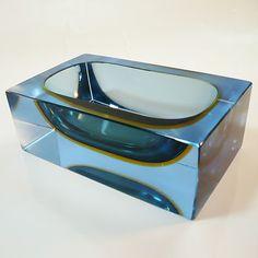 Murano Glas Schale Mandruzatto • Sommerso • Seltene Farbkombination | eBay
