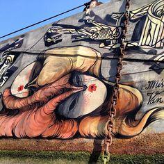 Miss Van mural in London. #missvan #london #streetart