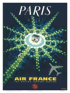 Air France/totally digging all of the vintage Paris stuff