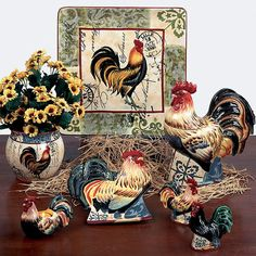 Country Rooster Dinnerware | Country Dinnerware from Certified International Dinnerware