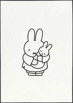 *Dick Bruna ~moeder met kleine pluis in haar armen
