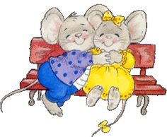 quenalbertini: Love you so much. Cartoon Drawings, Animal Drawings, Cute Drawings, Mouse Crafts, Cute Clipart, Cute Mouse, Animation, Whimsical Art, Cute Illustration