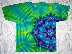 3XL Tie Dye Side Mandala  Gildan Ultra Cotton  One by GratefulDan