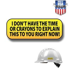 """2 Pack size: 2/"""" color: White//Black Hard Hat Printed Sticker I Pooped Today"""