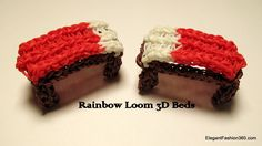 Rainbow Loom 3D Bed for figures - How to - Minecraft (+playlist)