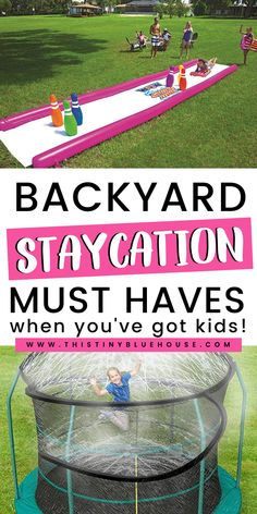 19 Best Epic Summer Backyard Must Haves To Make Your Yard a Blast Outdoor Activities For Kids, Outdoor Games, Summer Activities, Baby Activities, Backyard Trampoline, Backyard Games, Backyard Camping, Backyard Ideas, Summer Fun List