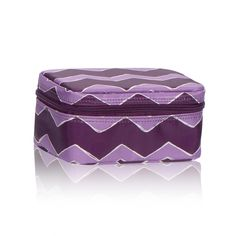 Baubles & Bracelets Case in Plum Chevron for $20 - Keep your bling secure and organized with our beautiful jewelry case! Interior jewelry tabs are perfect for storing rings and up to four pairs of earrings. Organza bags are great for holding necklaces and bracelets separately so they don't get tangled. Via @thirtyonegifts
