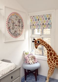 We love art in the nursery! {Nursery Artwork by Kristjana S. Williams from @riseart}