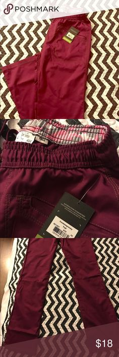 Dickies essence scrub pants stretch tall wine New xsmall tall Dickies Pants Boot Cut & Flare
