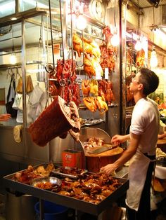Street food in Hong Kong *drools* best char siu/bbq in the world - Hong Kong, China. #food #foodtravel #travel