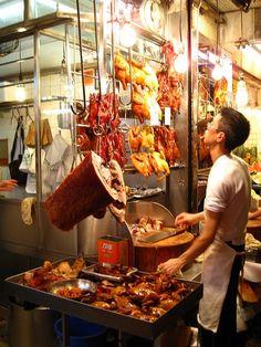 Street food in Hong Kong *drools* best char siu/bbq in the world - Hong Kong, China. #food #foodtravel #travel