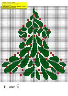 Sapin de Noël rouge et vert - red and green Christmas tree