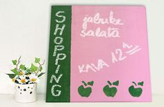 Memo board - why not use colour for your memo board? Although we love the classic green board paint, we experimented with pink and green and love the result! — Hobby Art Chemaco