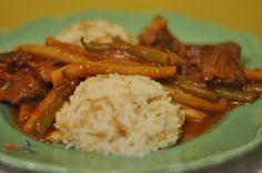 The Egyptian Kitchen: Dinner: Fasolia wa roz (beans and rice)