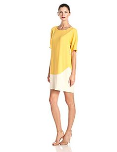 Donna Morgan Womens Dolman Sleeve Color Blocked Dress FlanEnamel 10 >>> Click image to review more details.(This is an Amazon affiliate link)