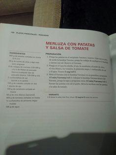 Merluza con patatas y salsa tomate