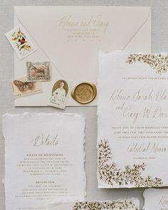 Ink Ivory Wedding Invitations, Addressing Wedding Invitations, Envelope Addressing, Letterpress Wedding Invitations, Destination Wedding Invitations, Gold Invitations, Wedding Envelopes, Invitation Paper, Elegant Wedding Invitations