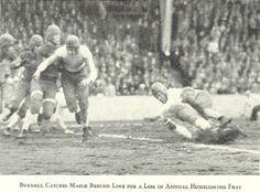 1927 Oregon football during homecoming game.  From the 1928 Oregana (University of Oregon yearbook).  www.CampusAttic.com