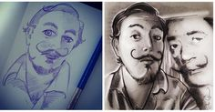 Todays #Drawing is a revisit of an early #RedditGetsDrawn. I really like how my current style looks and now that I have an actual process I thought Id revisit some of my old art and update it. #DrawingsRevisited  u/ wtxrobbi #SalvadorDali  Original: http://ift.tt/2bjvpsD  http://ift.tt/1Jrzf1w  http://ift.tt/1oBzfCq  http://ift.tt/1Jrzeea  http://ift.tt/1SHwYgv  http://ift.tt/1PBu81v  #digital  #pencil #portrait #reddit #redditgetsdrawn #todayssketch #reddit #art #drawing #portrait #RGD…