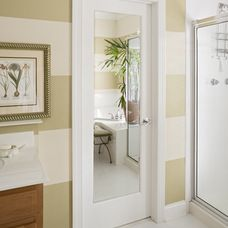 Delightful Full Length Mirror Mounted On Back Of Single Panel Door (by HomeStory Easy  Door Installation