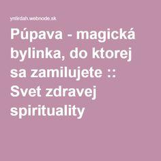 Púpava - magická bylinka, do ktorej sa zamilujete :: Svet zdravej spirituality