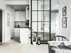 42 Minimalist Apartment Studio Decorating Ideas - Studio apartments are becoming an increasingly favorite selection for singles or couples. Studios are generally one room apartments with a shared livi. One Room Apartment, Apartment Furniture, Apartment Living, Living Rooms, Studio Apartment Decorating, Apartment Design, Small Space Design, Small Spaces, Living Room Scandinavian