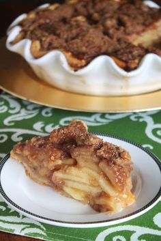Salted Caramel Apple Pie with Crumble Topping Recipe